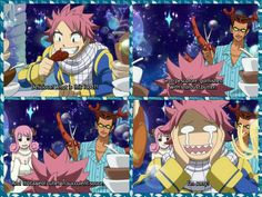 Natsu, Cancer, Aries, funny, food, text, quote, comic, Celestial Spirit World, Fairy Tail; Photo Collages
