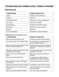 #legal #terms #languages #spanish #english
