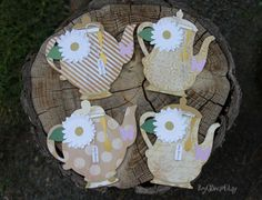 Teapot Invitations Rustic Theme Baby Shower Tea Party Baby Brewing