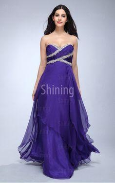 Purple A-line Floor-length Sweetheart Dress
