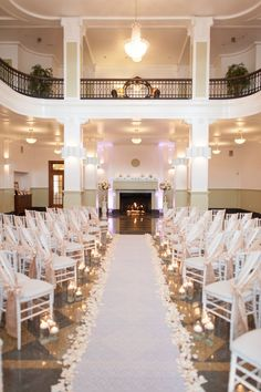 wedding ceremony idea blue rose photography via elizabeth anne design wedding ceremony ideas, blue wedding ceremony decorations Wedding Ceremony Ideas, Indoor Wedding Ceremonies, Wedding Venues, Reception Ideas, Rooftop Wedding, Wedding Altars, Indoor Ceremony, Wedding Arches, Wedding Backdrops