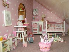 dollhouse nursery by fairyina3, via Flickr