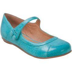 Miz Mooz Women's Dotty Flat Shoe ($50) ❤ liked on Polyvore featuring shoes, flats, aqua, aqua flats, mary jane flat shoes, mary jane shoes flats, aqua shoes and polka dot flat shoes