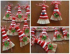 Page Borders Design, Border Design, Yarn Dolls, Felt Dolls, Mens Halloween Shirts, Christmas Crafts For Kids, Christmas Ornaments, Arts And Crafts, Diy Crafts