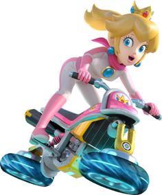 Peach - Mario Kart 8  I MEAN SERIOUSLY THE DESIGN AND GRAPHICS OF THE GAME LOOK LIKE A RAVE PARTY WITH GLOWSTICKS  HOW DO YOU NOT LIKE THE RACE