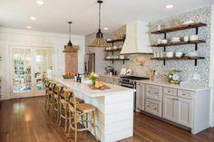45 Modern Farmhouse Kitchen Cabinets Decor Ideas and Makeover – Home Design Kitchen Cabinets Decor, Farmhouse Kitchen Cabinets, Cabinet Decor, Modern Farmhouse Kitchens, Home Kitchens, Kitchen Backsplash, Grey Cabinets, Backsplash Ideas, Tile Ideas