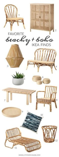 Favorite Beachy + Boho Ikea Finds In scouting for the BHG makeover I., Favorite Beachy + Boho Ikea Finds In scouting for the BHG makeover I hit Ikea. They have a ton of new items, especially with a beachy-boho. Boho Room, Boho Living Room, Living Room Decor, Dining Room, Living Spaces, Farmhouse Furniture, Farmhouse Decor, City Farmhouse, Bedroom Furniture
