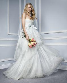 Monique Lhuillier 2015 Bridal Ad Campaign shot by Jason Kim featuring Heidi Mount