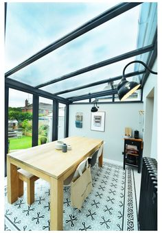 Conservatory Dining Room, Lean To Conservatory, Conservatory Extension, Conservatory Design, Orangery Extension Kitchen, Conservatory Interiors, Glass Roof Extension, House Extension Design, Extension Ideas