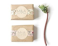 how to wrap wedding favors with washi tape