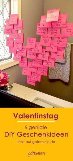Schnell noch Last Minute ein DIY Geschenk zum Valentinstag basteln! Wir haben die besten Ideen!