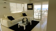 One of our holiday apartments on Santa Maria in the San Eugenio area of Tenerife. The apartment is on the floor and enjoys a pool and sea view. Holiday Apartments, Sofa, Couch, Santa Maria, Tenerife, Flooring, Furniture, Home Decor, Settee