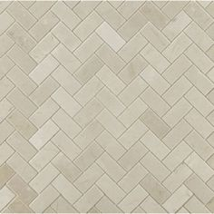 large herringbone mosaic in honed finish - crema marfi ( at ann sacks)