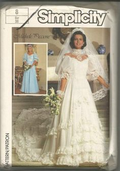 781a3757a4a38 1980s Off Shoulder Evening Wedding Bridesmaid Prom Full Skirt Dress  Simplicity 7259 Uncut FF Size 8 Bust 31.5 Women's Vintage Sewing Pattern