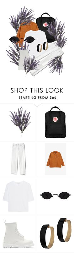 """Vb"" by maggdalene on Polyvore featuring Fjällräven, Gap, Monki, Cotton Citizen, Dr. Martens, Zimmermann and dr"