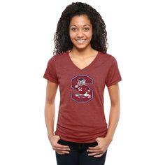 South Carolina State Bulldogs Women's Classic Primary Tri-Blend V-Neck T-Shirt - Cardinal - $24.99