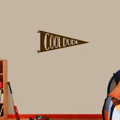Cool Dude Pennant Flag Wall Decal