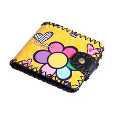 NA-0165 Xiamen volk unique flower  handmade short wallet