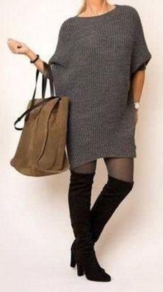 Модное платье спицами