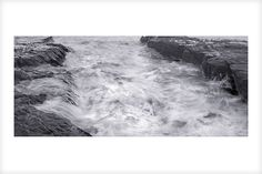 """""""Rough Water, Muriwai"""" is a fine art photograph by Jonathan Bourla.  This limited edition photograph is printed on one hundred percent acid-free cotton rag paper with pigment ink.  To see more of Jonathan's photographs, go to www.jonathanbourla.com"""