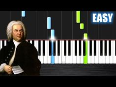 Bach: Air on the G string - EASY Piano Tutorial by PlutaX - Synthesia Piano Songs, Piano Sheet Music, Le Piano, Piano Tutorial, Piano Teaching, Music Charts, Easy Piano, Music Theory, G Strings