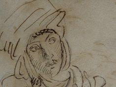 CHASSERIAU Théodore,1846 - Arabe à mi-corps - drawing - Détail 3