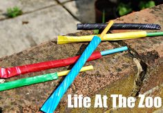 Super simple Straw Shooter game - we had our own set of Olympic Games with them...