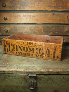 Early Old 'The Economical Cobbler' Wooden Box - Advertising  Just found one of these in my cupboard.  Adorable . . . I forgot that I had it.