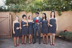 These are the bridesmaid dresses I had at my wedding  :)  Still love them!