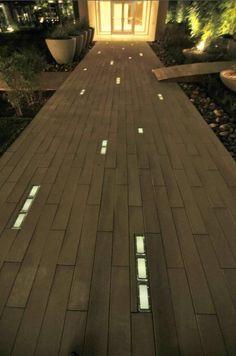 beautiful installation of solar LED pavers