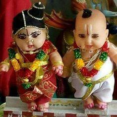 Cute dolls in indian brahmin wedding couple..........