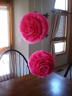 Crepe Paper Flowers..really loving the DIY big paper flowers for decor! Can you blame me?