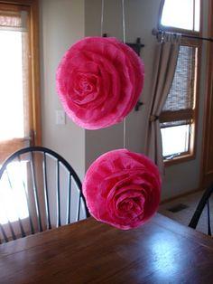 Hanging Crepe Paper Roses