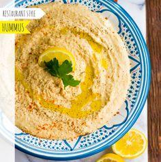 Hummus Dip. Restaurant-Style. #superbowl #food