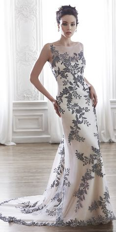black and white wedding dress from Maggie Sottero