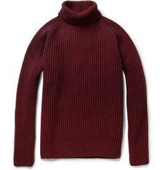 AmiRibbed Merino Wool-Blend Sweater