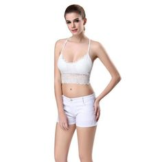 8a81cf606e Sexy Lingerie Halter Lace Cut Out Padded Bra Women Underwear Backless Crop  Top Club Bralette Bustier Strappy Vest Camis