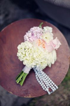 #WeddingBouquet with Pearl Adornments I A Good Affair Wedding and Event Production