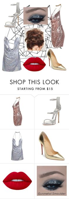 """""""double trouble"""" by smiley-peach ❤ liked on Polyvore featuring Giuseppe Zanotti, Christian Louboutin and Lime Crime"""