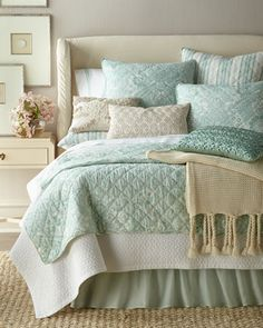 Shop Liana Bedding from Elisabeth York by C&F at Horchow, where you'll find new lower shipping on hundreds of home furnishings and gifts. Modern Tropical, Bedding Basics, Bed Design, Luxury Bedding, Linen Bedding, Home Furnishings, Duvet Covers, Master Bedroom, Blanket