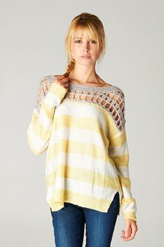 I'm absolutely in LOVE with this sweater!  Gracie Crochet Pullover on Emma Stine Limited