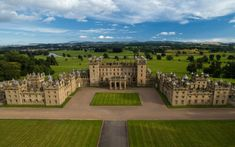 The huge Floors Castle in Roxburghshire