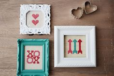Valentine's Day DIY makes for a sweet gift idea - Cross Stitch Free Patterns | Storypiece.net