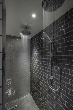 Grey Double Waterfall Shower The Most Useful Bathroom Shower Ideas There are almost uncountab Steam Showers Bathroom, Bathroom Spa, Modern Bathroom, Master Bathroom, Bathroom Ideas, Bathroom Updates, Ensuite Bathrooms, Master Shower, Bath Ideas
