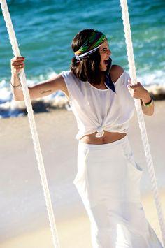 Swinging on The Beach