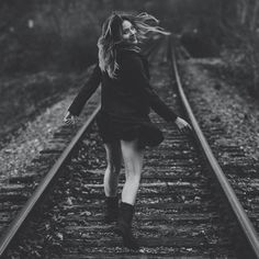 Traintracks by Sandra Ivaz – Photo 128472431 – Traintrac … – girl photoshoot poses Portrait Photography Poses, Fashion Photography Poses, Tumblr Photography, Outdoor Photography, Creative Photography, Railroad Photography, Grunge Photography, Photography Books, Photography Accessories