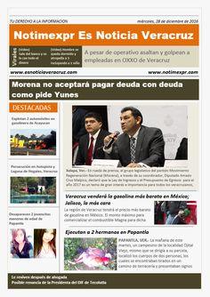 La Información más destacada con NOTIMEXPR. Miercoles 28 de Diciembre - http://www.esnoticiaveracruz.com/la-informacion-mas-destacada-con-notimexpr-miercoles-28-de-diciembre/