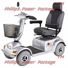 CTM  HS890  Full Size Bariatric Heavy Duty Road Class Scooter  4Wheel  Silver  PHILLIPS POWER PACKAGE TM  TO 500 VALUE <3 Details on product can be viewed by clicking the VISIT button http://www.amazon.com/gp/product/B01MXVQ2LO/?tag=buyamazon04b-20&phw=260217225017