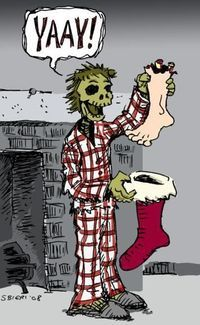 Don't wear red pajamas at night unless you want to fall asleep hungry... #StuffZombiesWear
