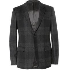 #AlexanderMcQueen #Grey Slim-Fit Check #Wool #SuitJacket | #MRPORTER
